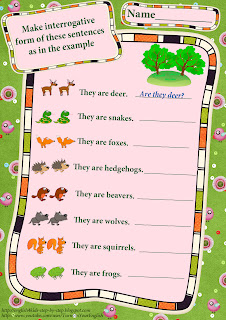 forest animals making questions worksheet verb to be