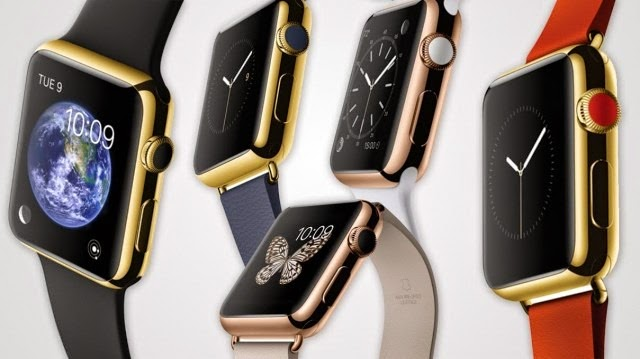 Apple Watch Edition comes in a choice of yellor or rose 18 karat gold