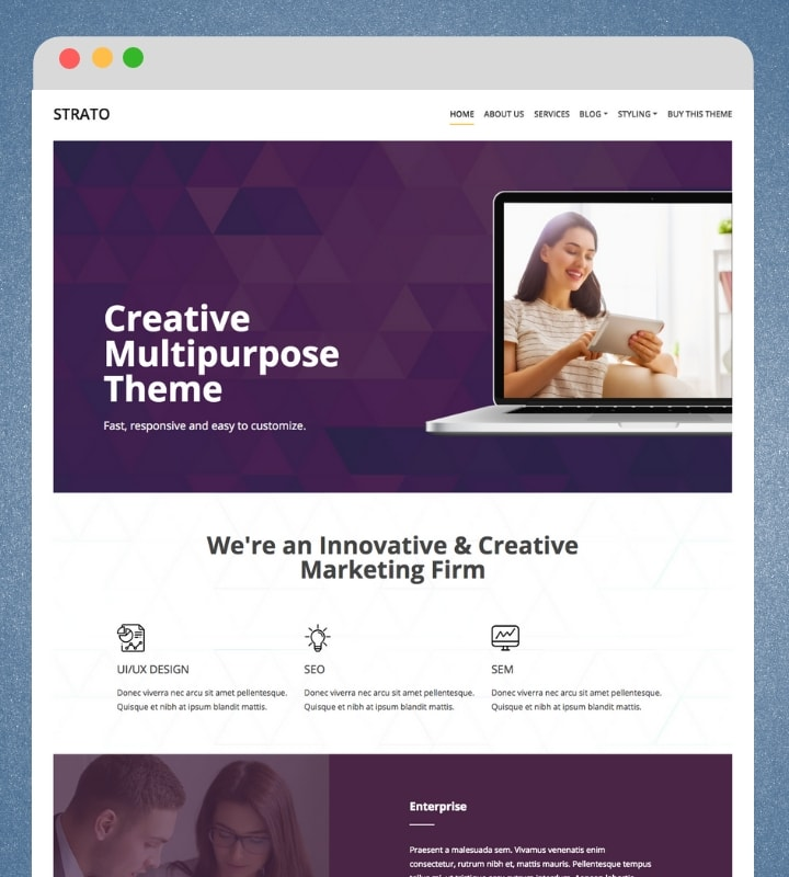 Strato (Multipurpose WordPress Theme)