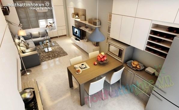Toàn cảnh Thiết kế nội thất cho căn hộ diện tích 70m2