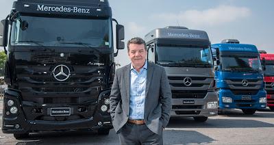 Caminhões da Mercedes benz