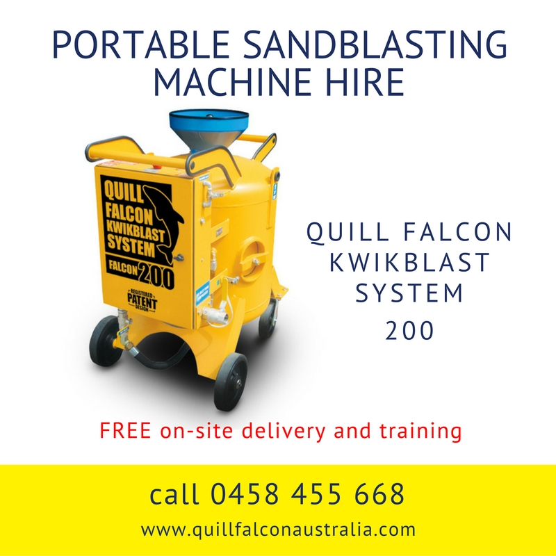 Quill Falcon Kwikblast Dustless Blasting Machine Falcon 200