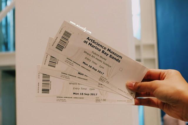 harga tiket masuk artscience museum singapore