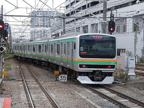 東海道線 普通 横浜行き2 E231系(2018.11川崎駅ホーム拡張工事に伴う運行)