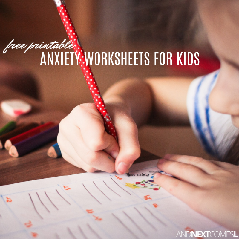 Free Printable Anxiety Worksheets for Kids | And Next ...