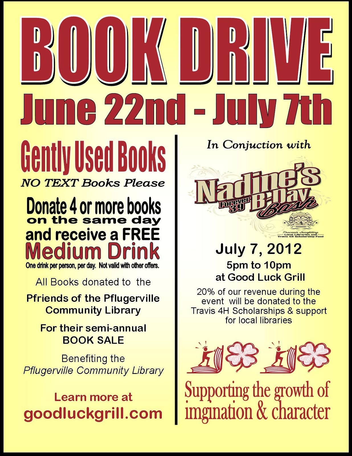 Travis County 4 H Book Drive And Nadine S Forever 39