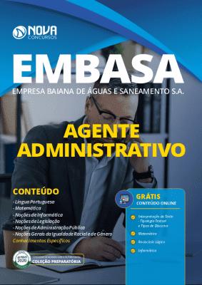 Apostila Concurso EMBASA 2020 Agente Administrativo Grátis Cursos Online