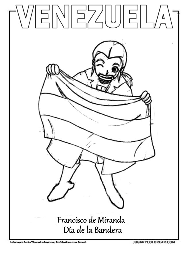 Laminas Colegiales Para Imprimir Y Recortar Dia De La Bandera De