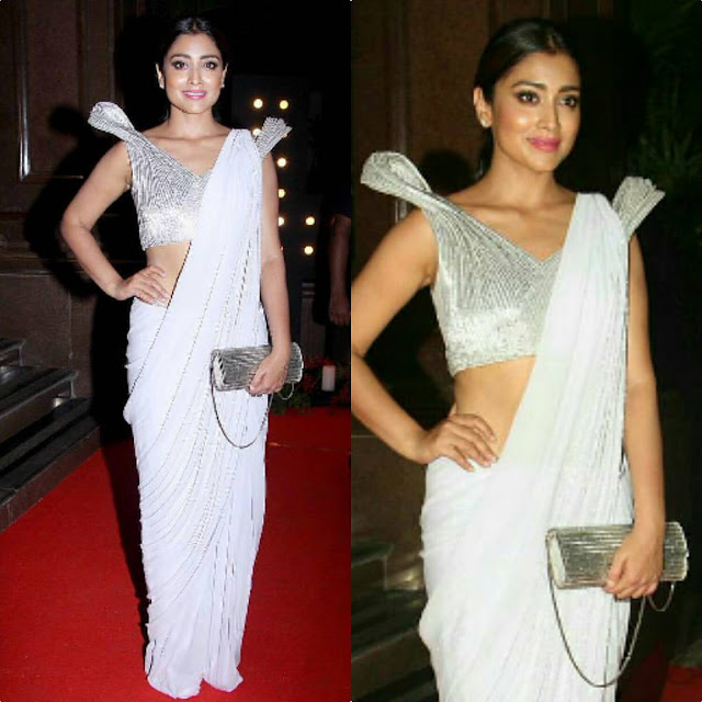 Shriya Saran In Gaurav Gupta Official At Hello Hall of Fame Awards 2017