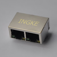 1x2 Ports 100 Base-T with LED Ganged Jacks