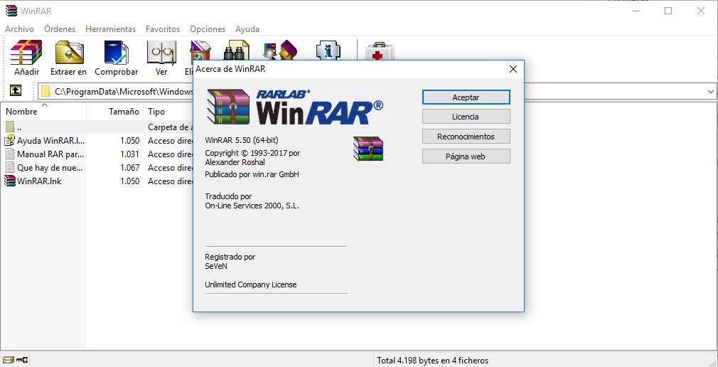 WinRAR v5.50 (2017) [x32-x64 Bits] Español Final Full Crack