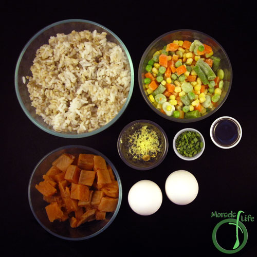 Morsels of Life - Salmon Fried Rice Step 1 - Gather all materials.