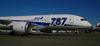 AN All Nippon Airways Boeing (NYSE:BA) Dreamliner lands in Seattle SEA