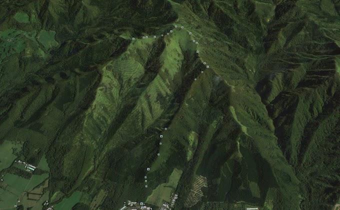 地図にない登山道でもGoogle Earthを使うと
