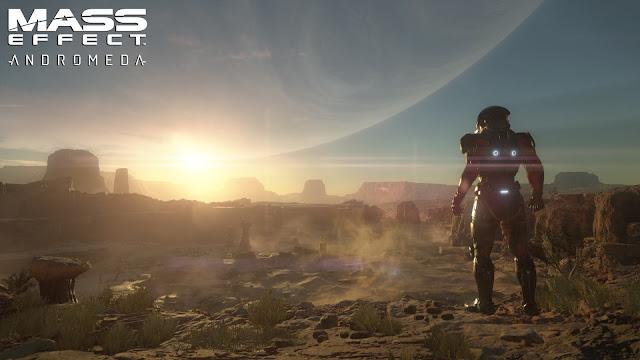 Otra imagen promocional del videojuego de exploración espacial Mass Effect Andromeda
