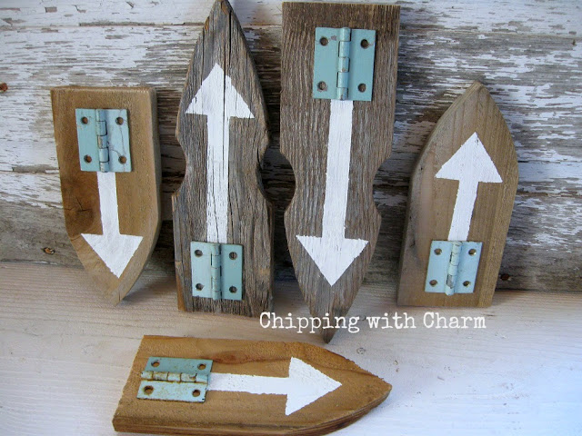 arrows made with picket fence boards and hardware