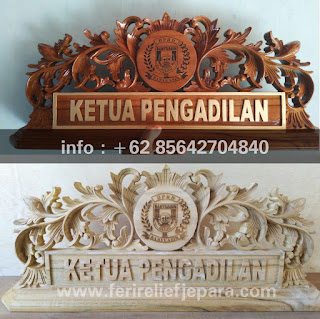 papan nama kayu jati murah