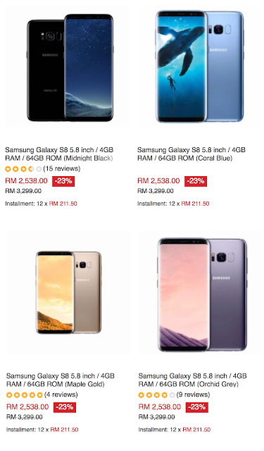 Official Warranty Samsung Galaxy S8 Malaysia Price Cheapest Latest