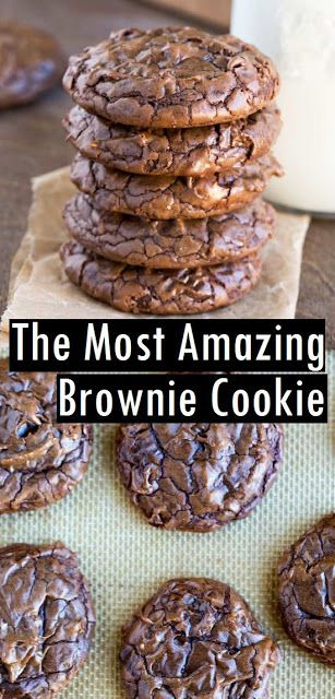 The Most amazing Brownie Cookie #brownie #brownierecipes #cookies #cookierecipes
