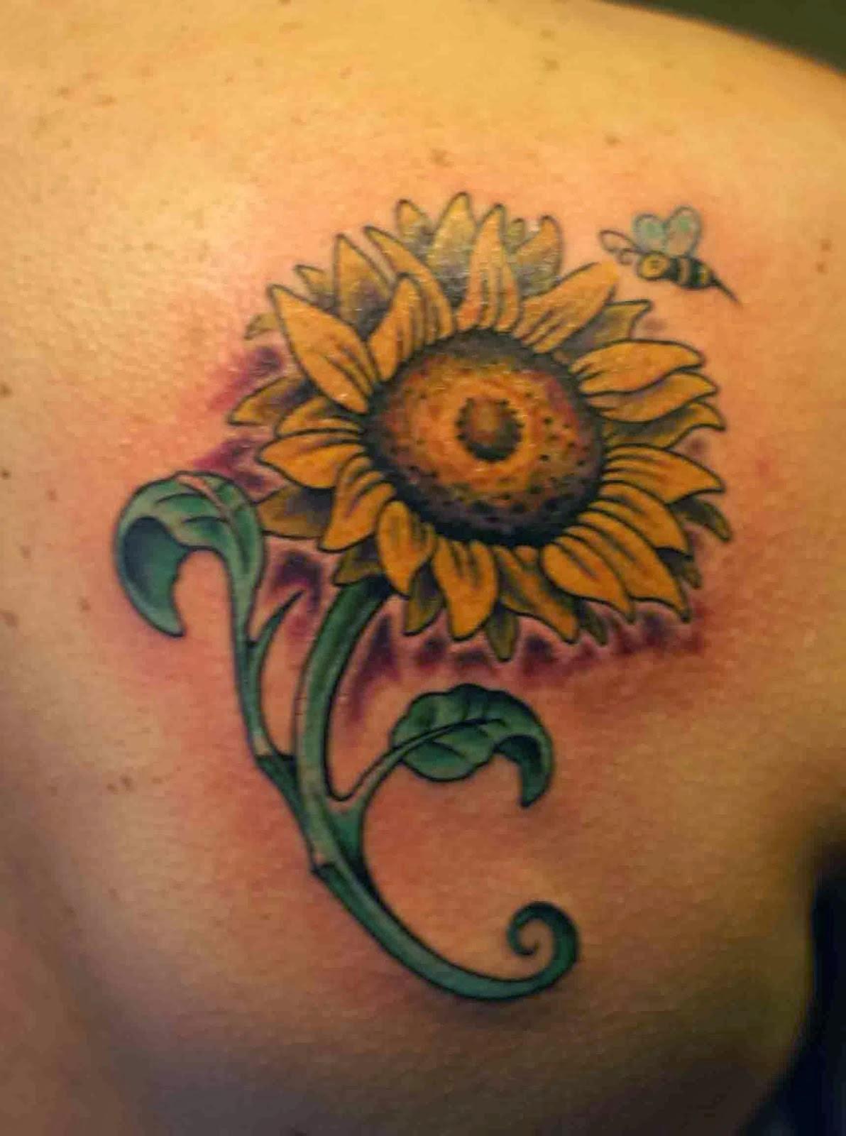 Sunflower And Daisy Tattoo: Sunflower Tattoos