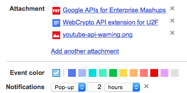 Add Google Drive Files to Google Calendar Events