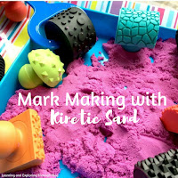 Mark Making in Kinetic Sand