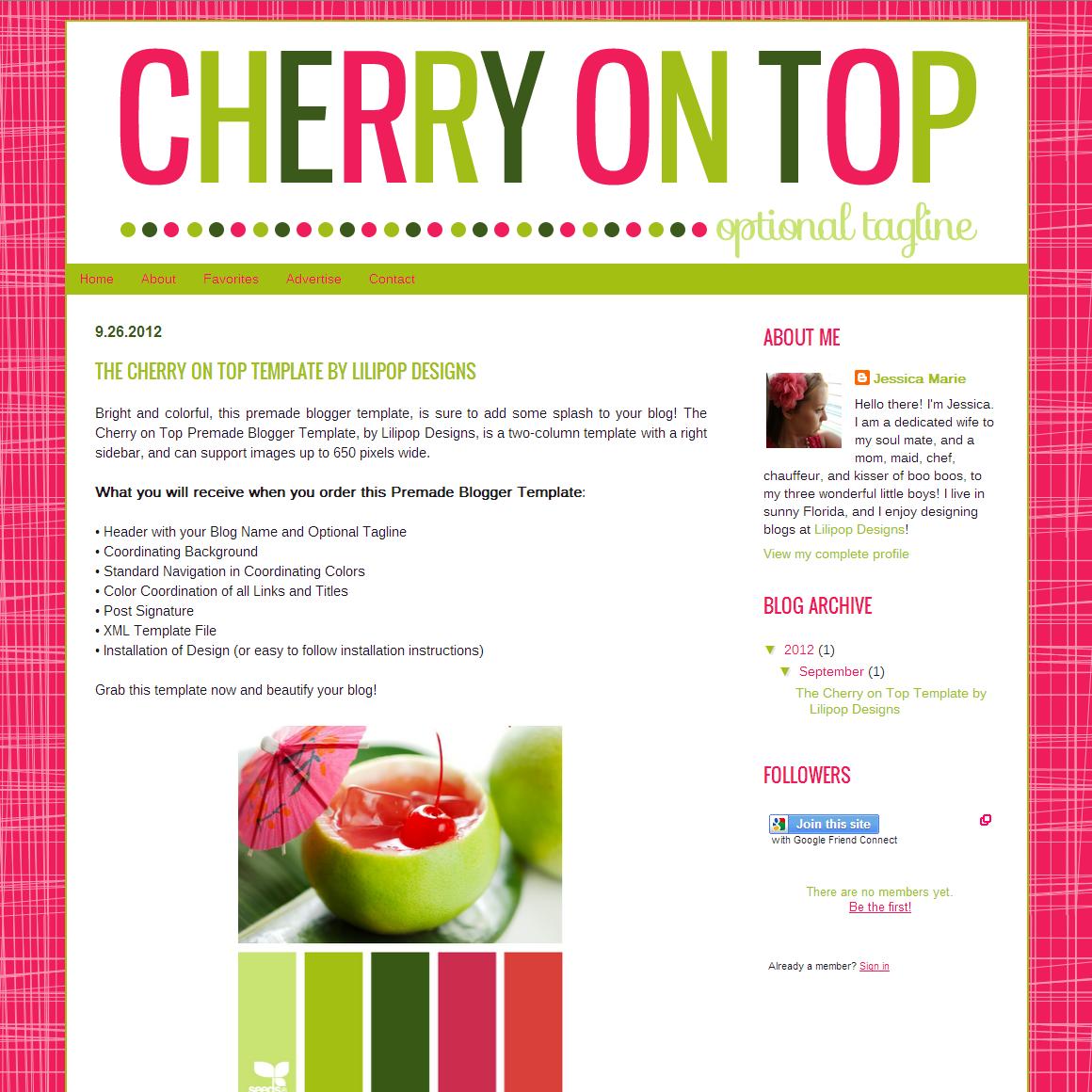 ... | Custom Blog Design, Premade Blog Design, Premade Blogger Templates