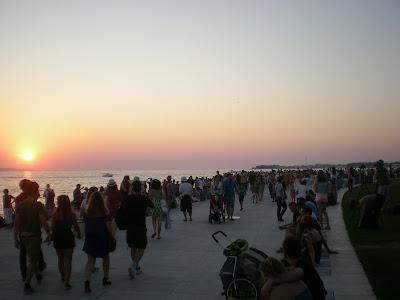 que ver en zadar puesta sol