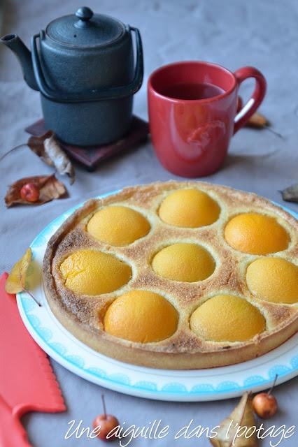tarte aux pêches et crème d'amandes