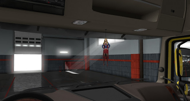 ets 2 ij's air fresheners & hanging toys screenshots 4, supergirl cabin accessory
