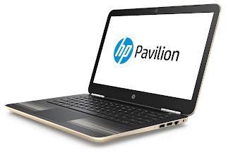 "Source: HP. The HP Pavilion 14"" laptop in Modern Gold."