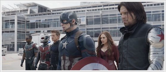 #TeamCap : Falcon, Ant-Man, Hawkeye, Captain America, Scarlet Witch, Winter Soldier
