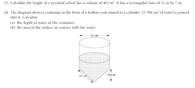 practice Questions(Volume and Surface Area) Learn
