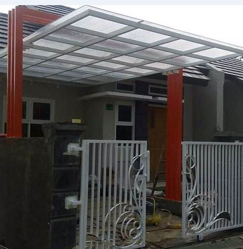 Model Kanopi Rumah Minimalis Type 45 Warna Orange