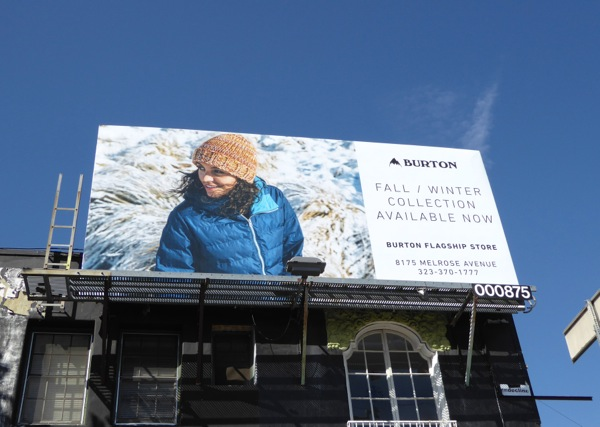 Burton Clothing FW16 billboard