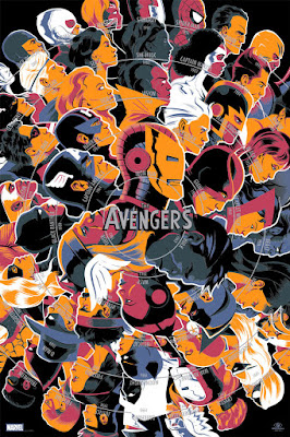 The Avengers Screen Print by Matt Taylor x Mondo