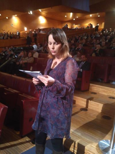 Carmen García durante a súa intervención