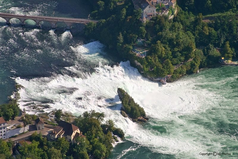 Aerial view of the Rhine Falls