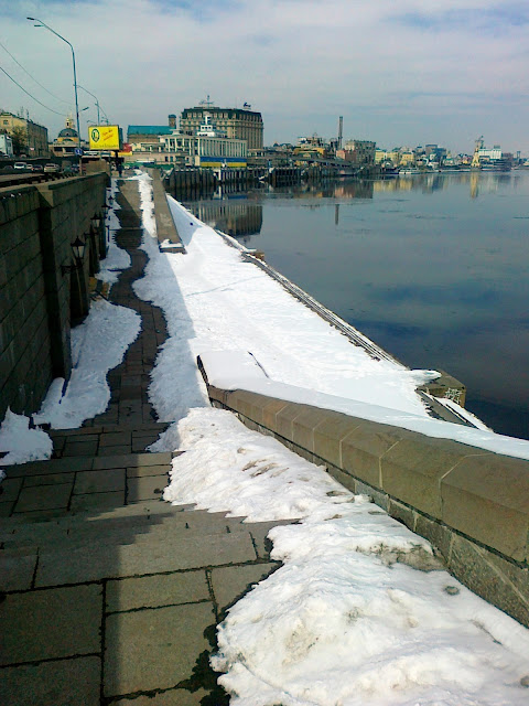 Набережная Днепра в районе места крещения Руси
