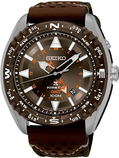 Seiko SUN061P1 Prospex Kinetic GMT Brown 46mm 100M