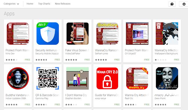 Heboh WannaCry, Playstore Dipenuhi Aplikasi Proteksi Ransomware Palsu
