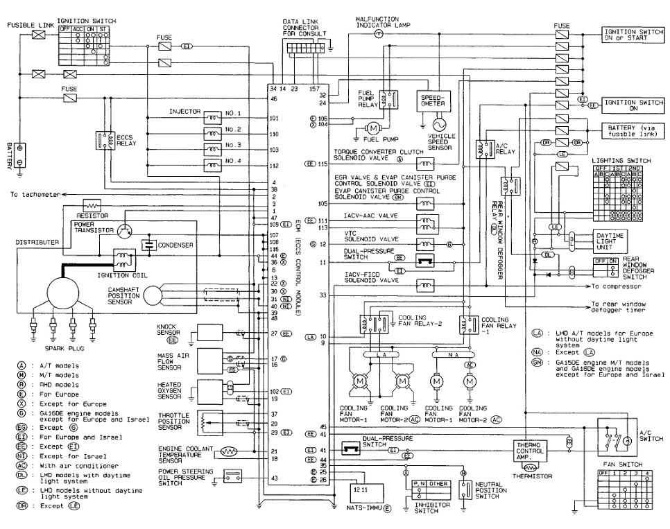 tach wire diagram 1989 nissan hardbody