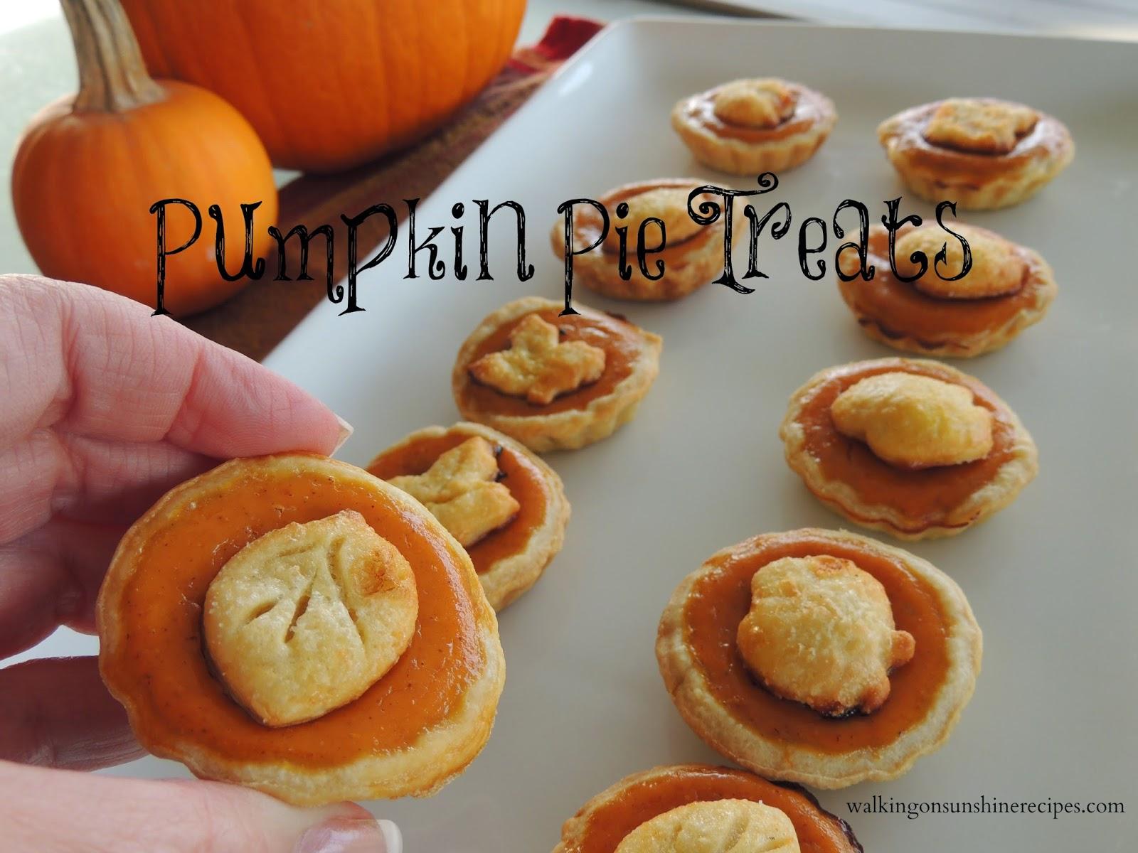 Pumpkin Pie Treats / Walking on Sunshine Recipes