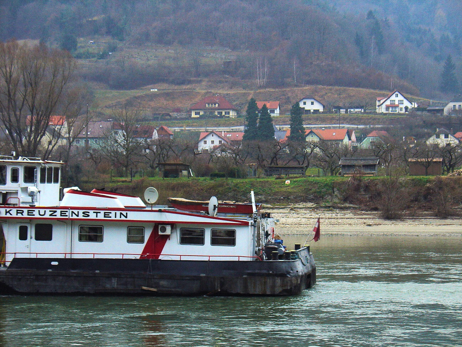 Cruising along the Danube River in Austria.