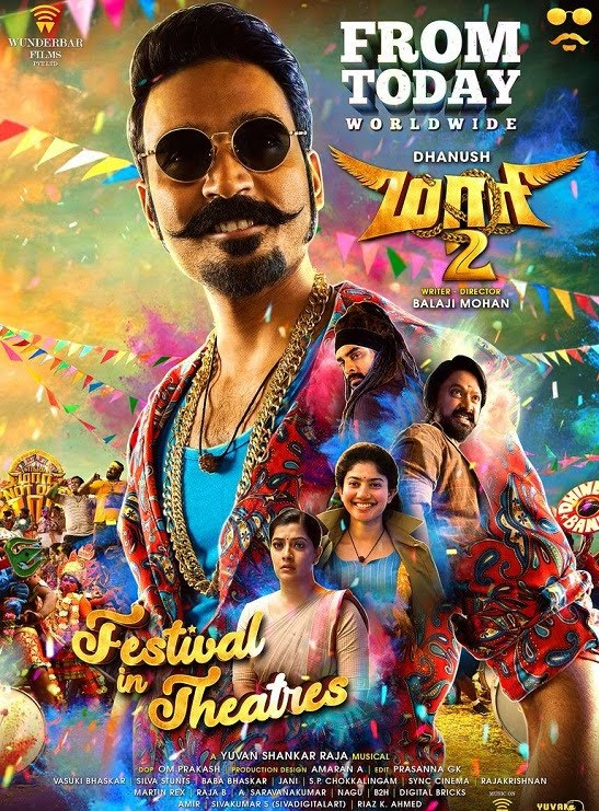 Maari 2 (2018) Dual Audio 500MB HDRip 480p x264 [Telugu – Tamil] ESubs download