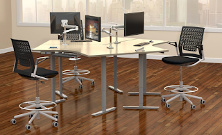 Height Adjustable Tables and Drafting Chairs