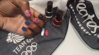Olympic Nail Art, Team GB Nail Art