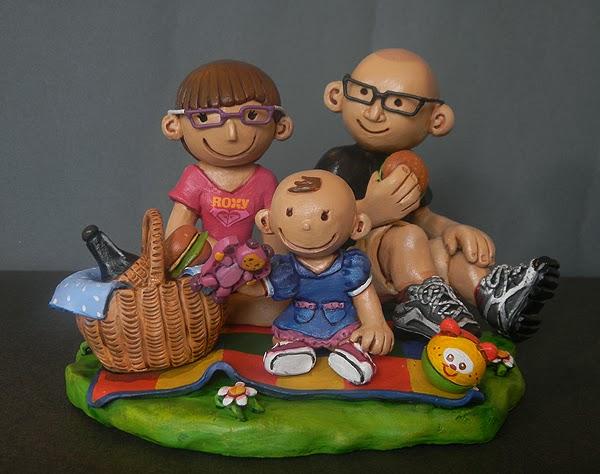 idee regalo cake tops sposini statuine personalizzate bambina orme magiche