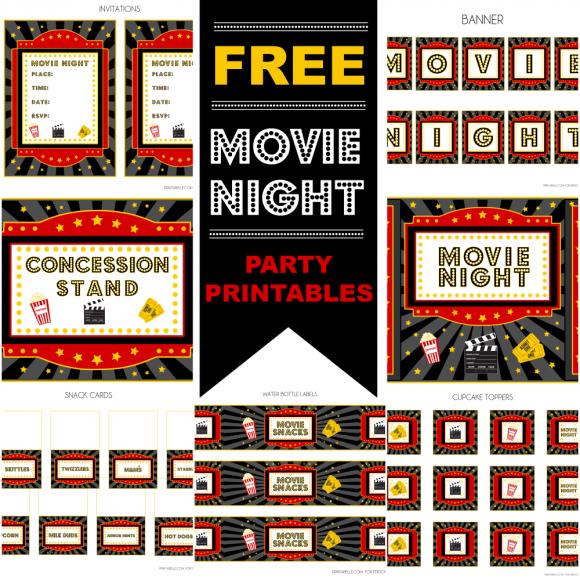 Fiesta del Cine: Kit para Imprimir Gratis.