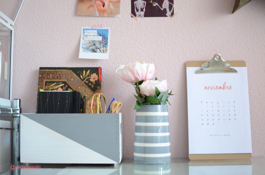 caja madera organizadora para escritorio